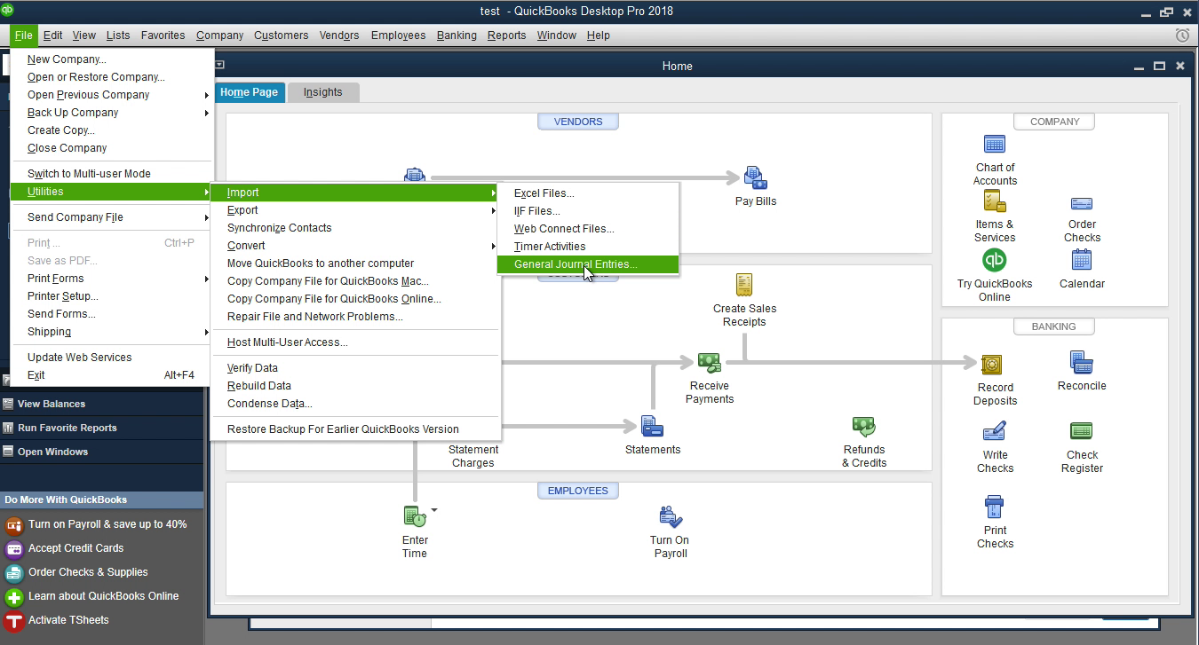 imported qbj into quickbooks successfully