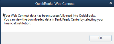 imported qbo into quickbooks successfully